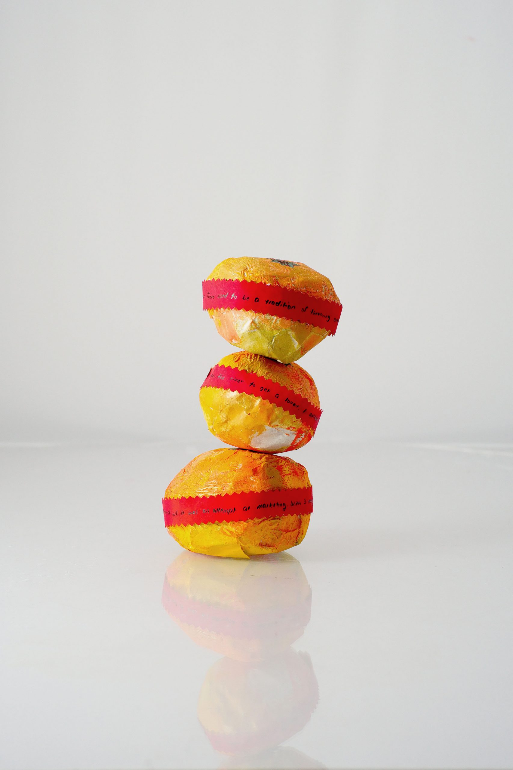 Orange sculpture, stacked